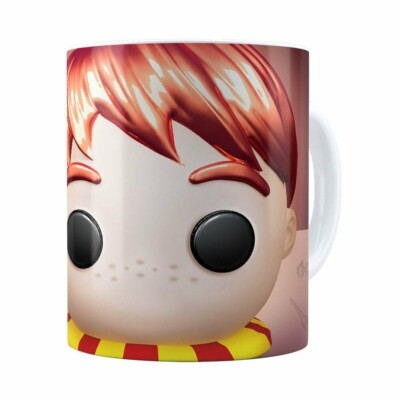 Caneca Harry Potter Ron 3d Print Branca