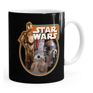Caneca Star Wars Droids Branca
