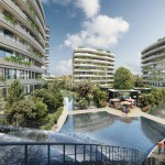 Luxury apartments for sale at city center with wonderful green area in Istanbul Bahcelievler