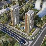modern architecture flats for sale in Istanbul Gunesli