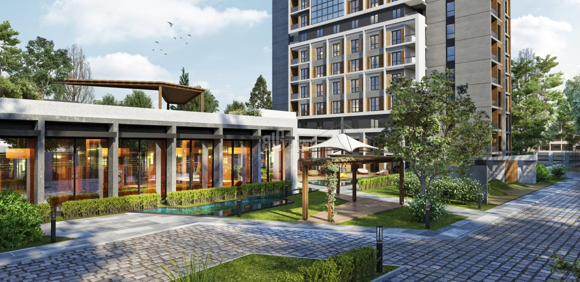 modern architecture houses for sale in gunesli Istanbul