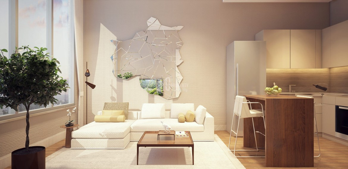 sample apartment living room in istanbul nef