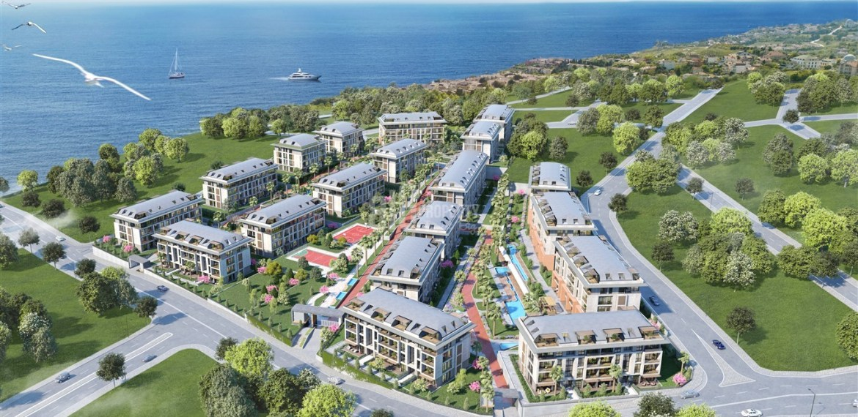 Full Sea view apartments near to marina for sale Beylikduzu İstanbul