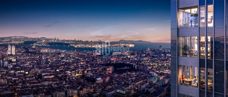 High Tower with horizontal boshphorus view in Taksim İstanbul