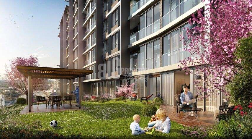 Panoramic city view apartments for sale Eyup İstanbul