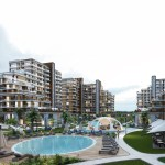 Old Historical city Concept real estate with sea view for sale Istanbul Beylikduz