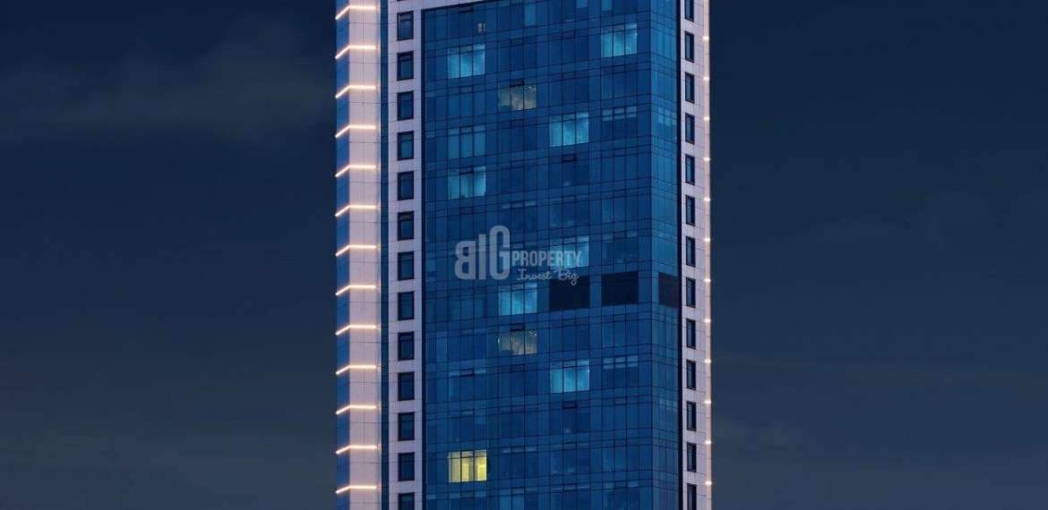 iconic tower real estate in city center for sale in sisli istanbul turkey