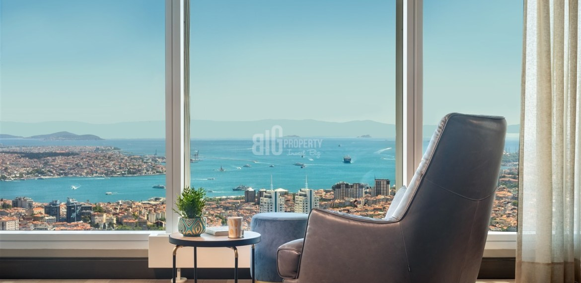 Ultra High Quality residential for sale with wonderful Bosphorus sea view and in Istanbul Beşiktaş