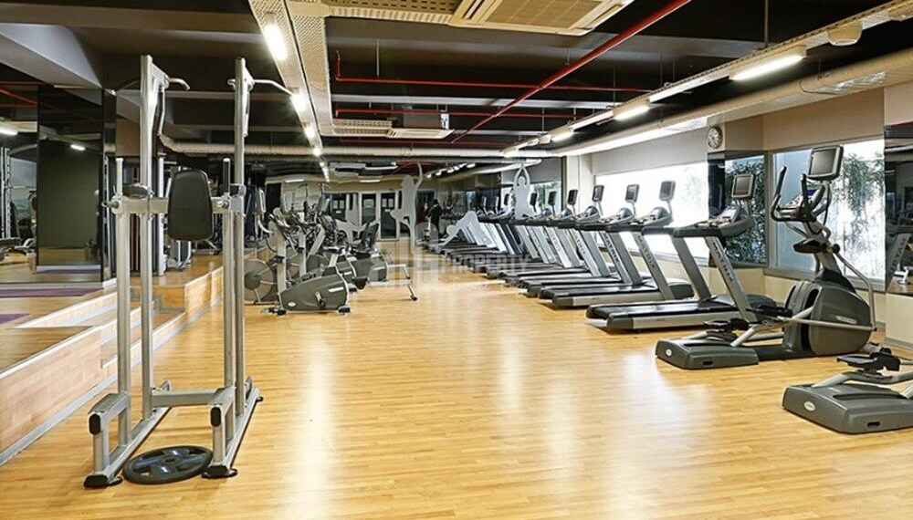 The inner gym for practicing sports inside the compound