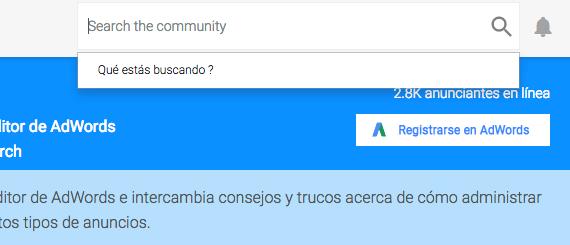 busquedas en la comunidad de adwords