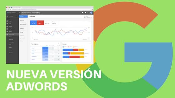 nueva versión de Google AdWrords