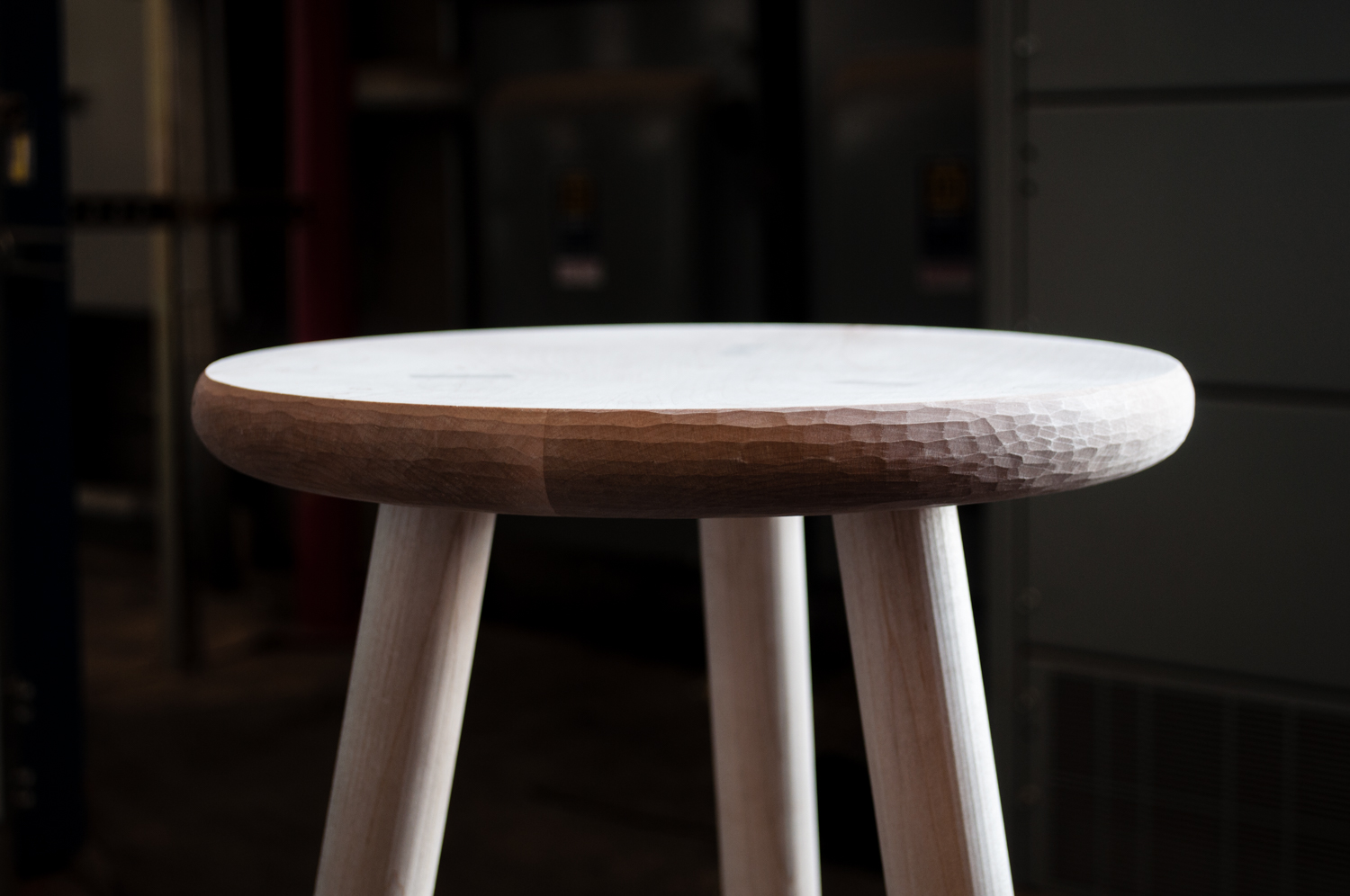 3 Legged Stool With Curved Stretchers Big Sand Woodworking