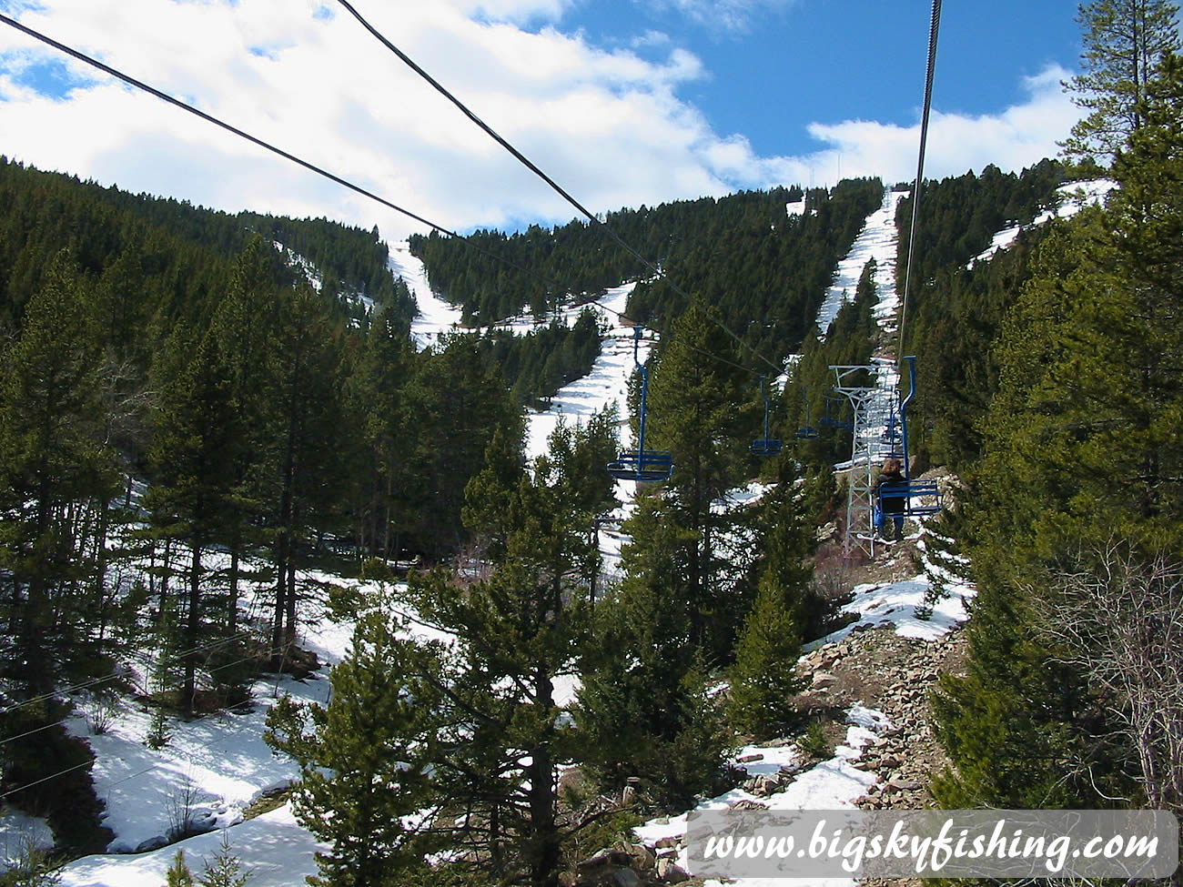 Riding Wild West Chair Lift at Great Divide Ski Area