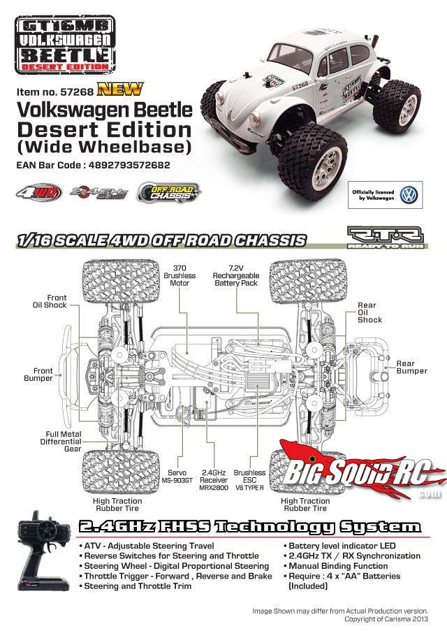 Carisma GT16MB 16th Scale 4wd Volkswagen Beetle Desert