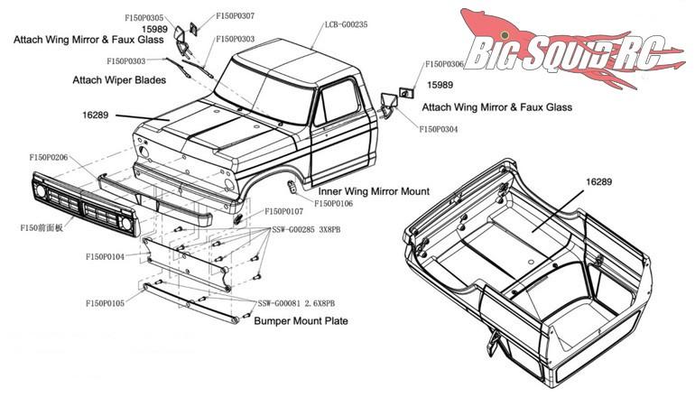 Carisma 1976 Ford F-150 Half Cab 2-Piece Clear Body Set