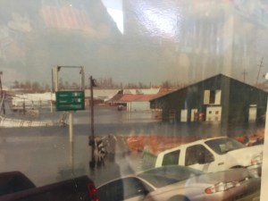 Gas Station Under Water after Katrina
