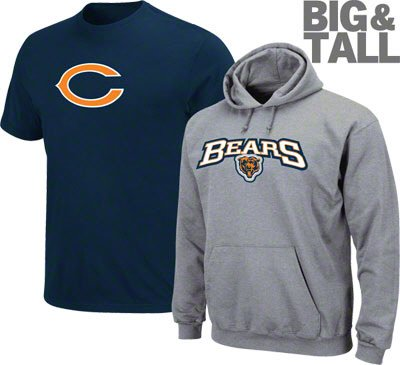 Chicago Bears Big and Tall NFL Apparel