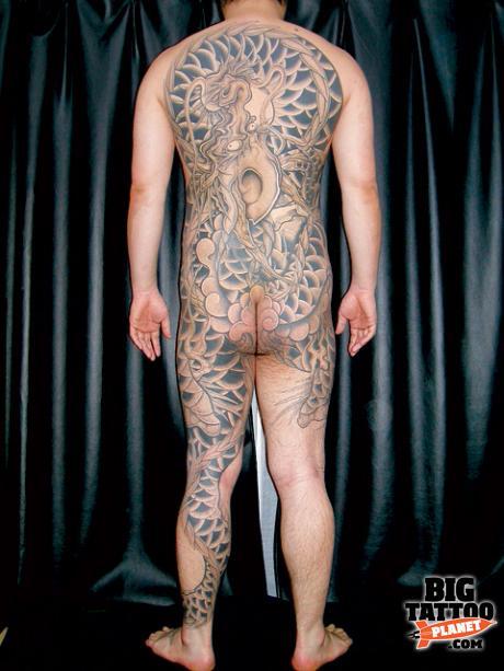 Irezumi Horimyo Black And Grey Tattoo Big Tattoo Planet