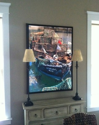 Crab Boat on client wall