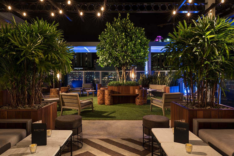 Rooftop  1WLO  Hotel Restaurant  Nightclub Design by