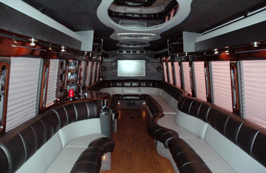 white-party-bus-interior