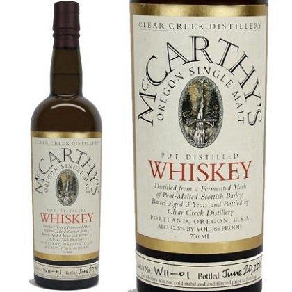 McCarthy's Oregon Single Malt (750 ML) liquor