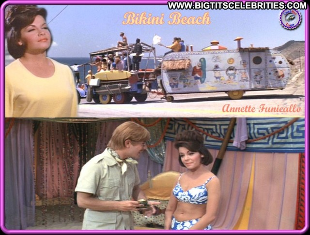 Annette Funicello Bikini Beach Celebrity Gorgeous Big Tits Brunette