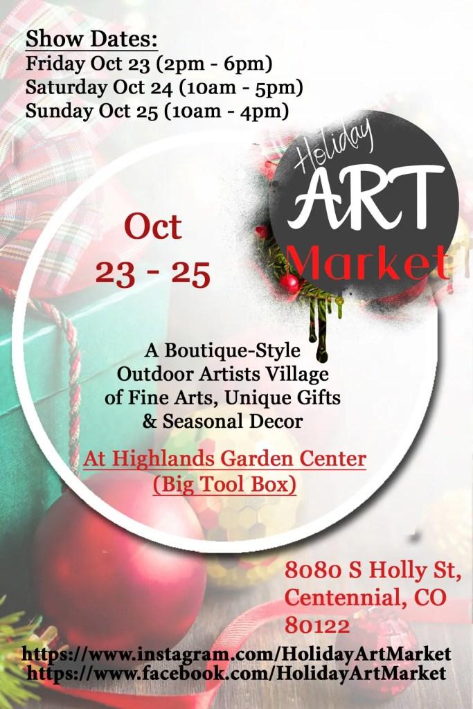 Holiday Art Market 2020 at Highlands garden Center