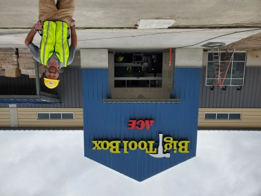 Front entrance to the new parker Colorado Big Tool Box in Parker opening in mid July 2021