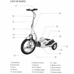 Electric Scooter Wiring Diagram Yamaha Grizzly 125 Carburetor Ew 36 Get Free Image About