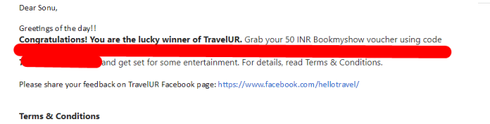 Screenshot 118 - Travelur.com: Refer 5 Friends And Get Rs.200 Amazon Voucher For Free