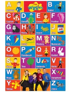 The wiggles abc poster also big  rh bigw