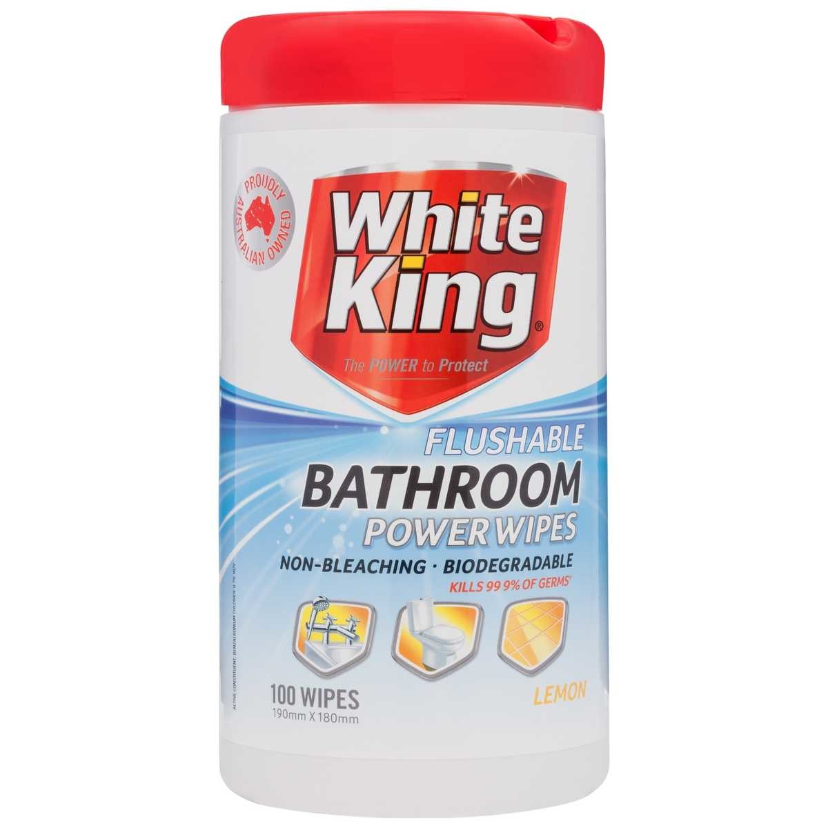 White King Flushable Bathroom Wipes  BIG W