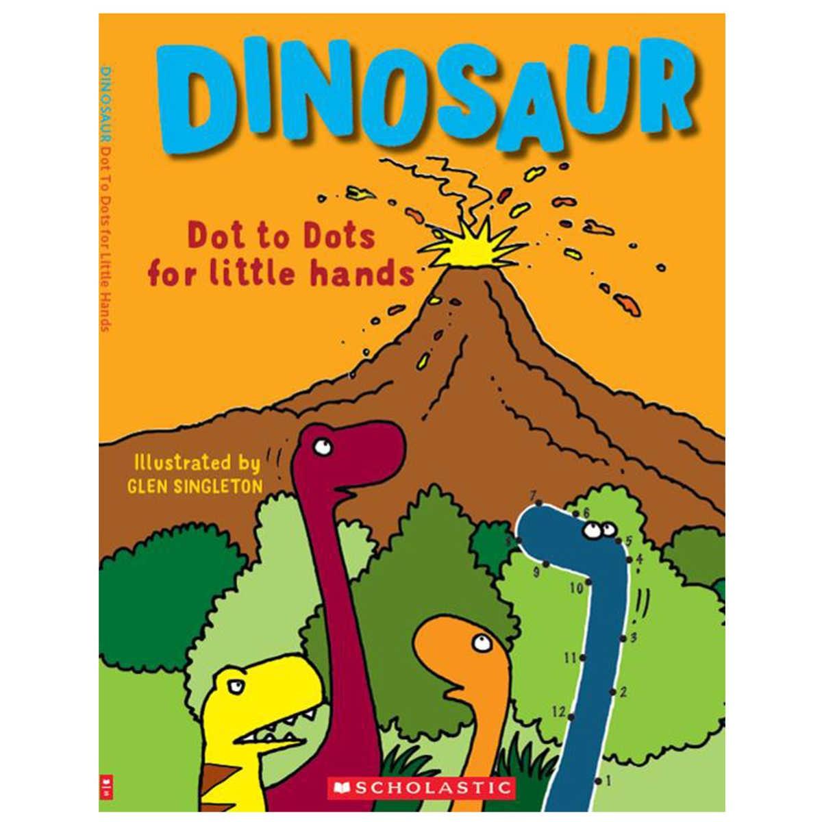 Dinosaur Dot To Dots For Little Hands