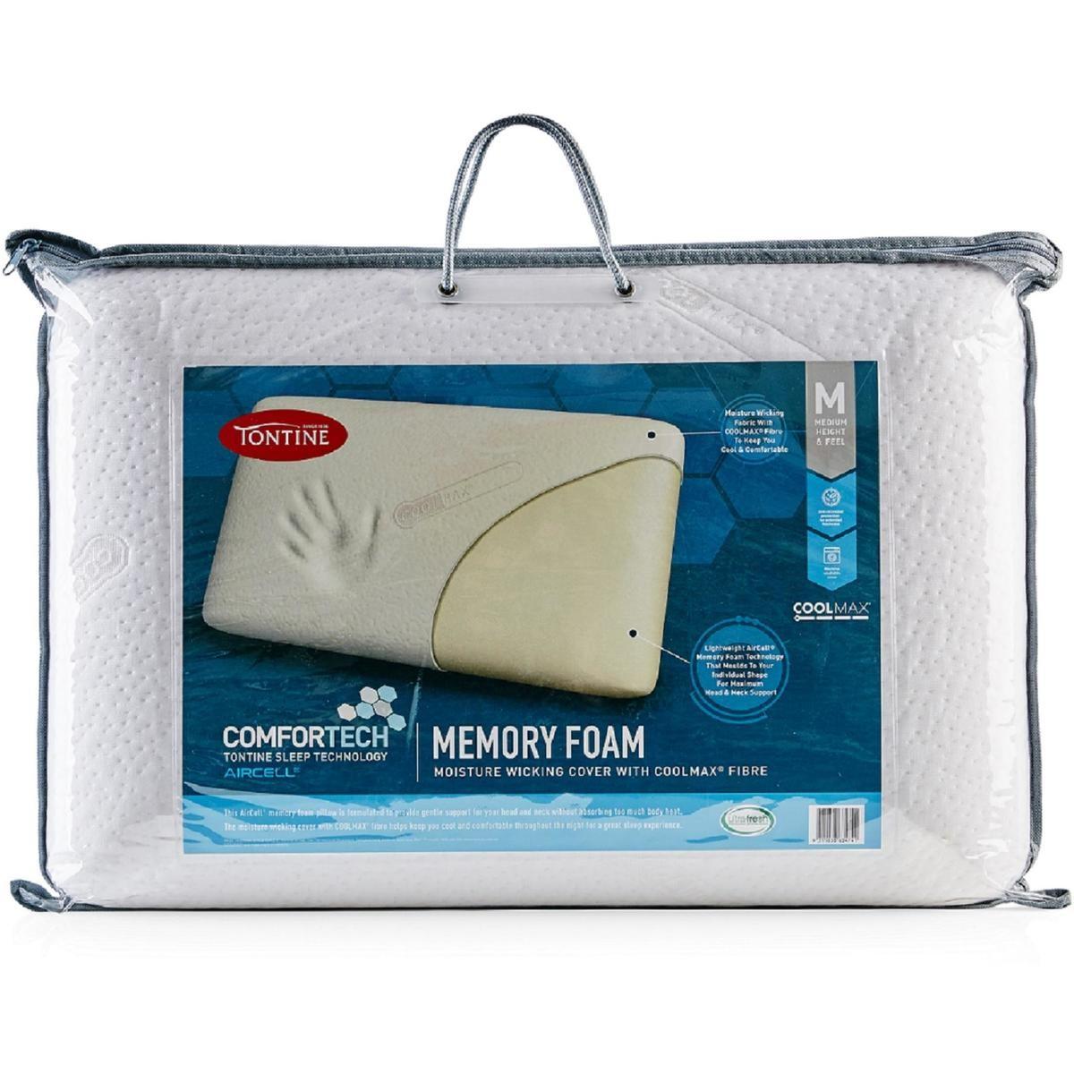 tontine comfortech memory foam pillow
