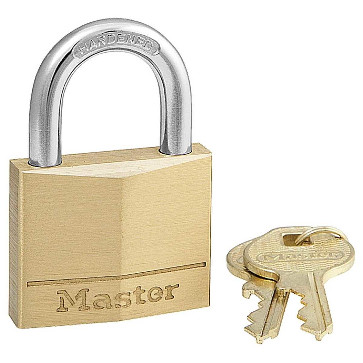 Master Lock Diamond Brass 40mm Padlock  BIG W