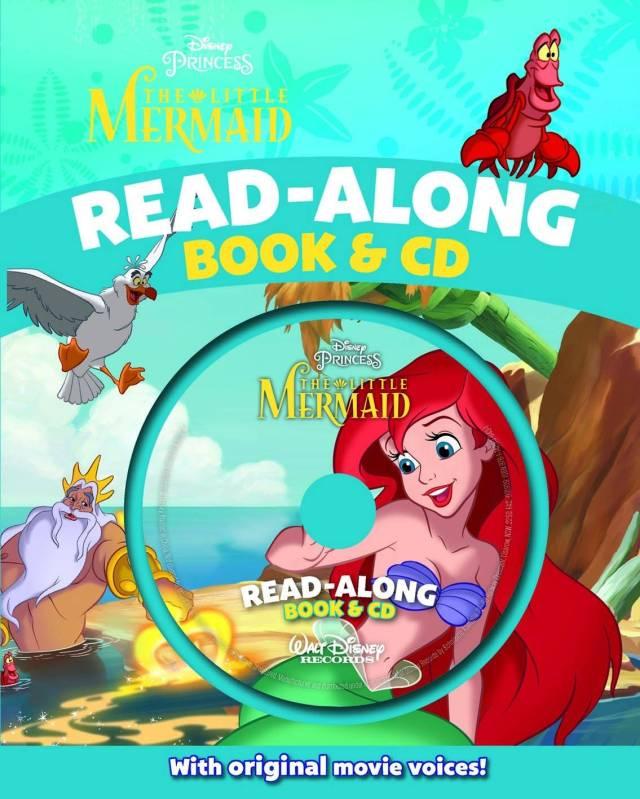 Disney Princess The Little Mermaid Read Along Book & CD  BIG W
