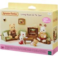 Sylvanian Families Living Room & TV Set