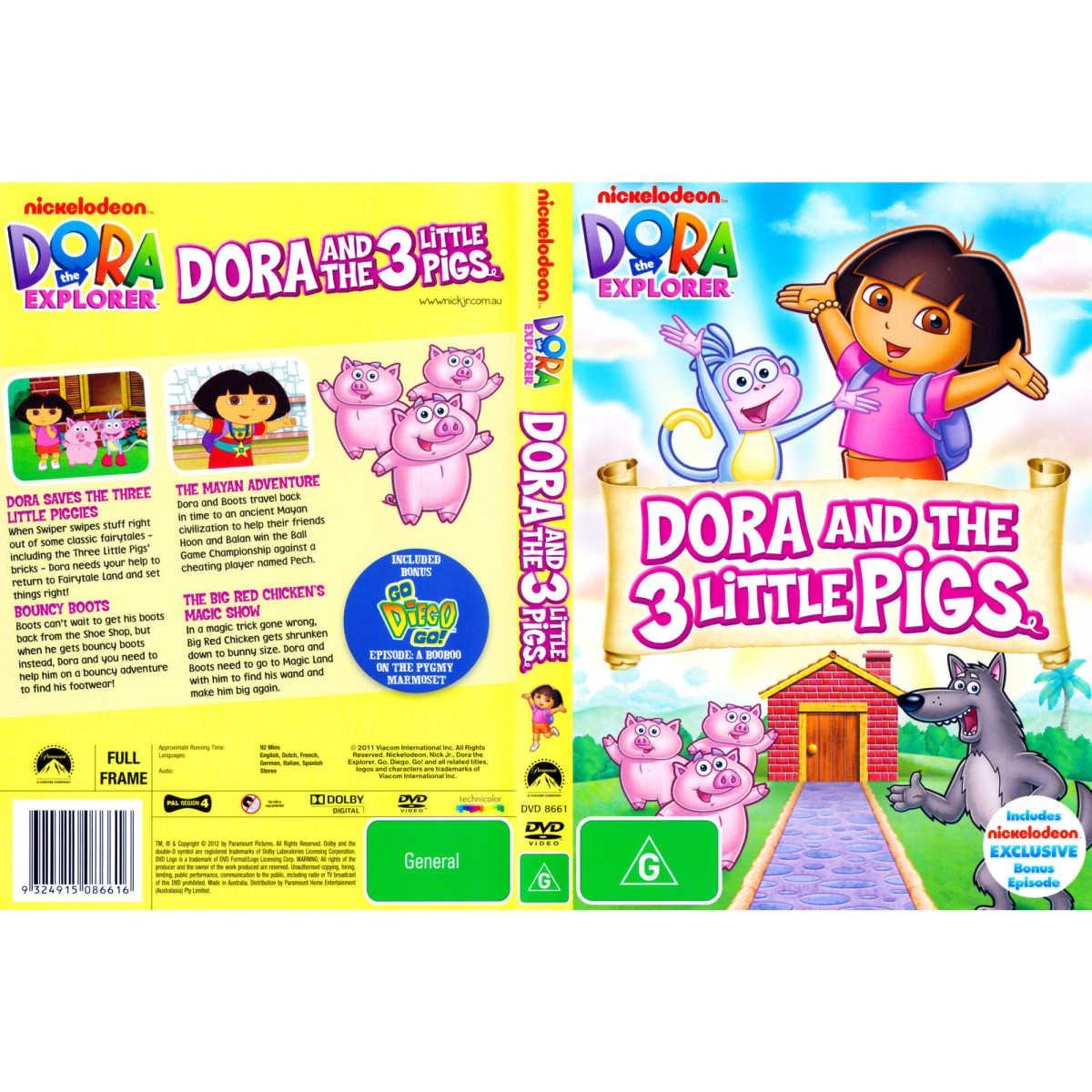Dora The Explorer Dora And The Three Little Pigs