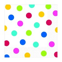 Polka Dot Lunch Napkins 16 Pack - Rainbow | BIG W