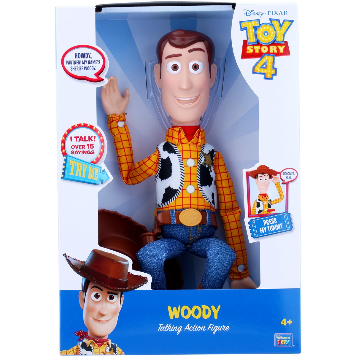 Toy Story 4 Woody 12 Talking Action Figure