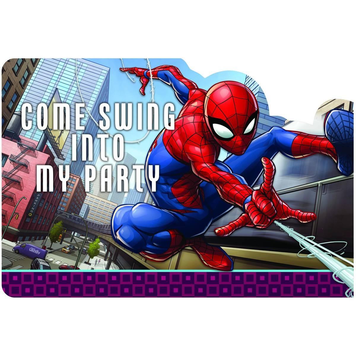 spider man webbed wonder postcard invitations 8 pack