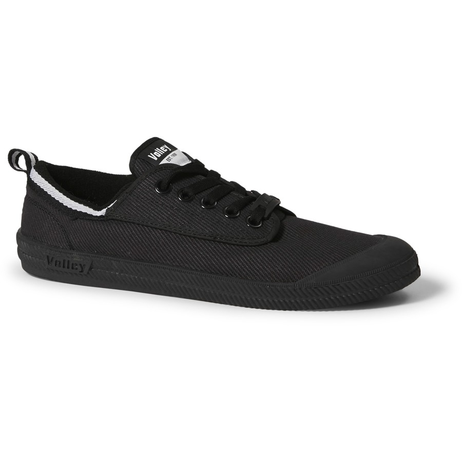 Volley Mens Canvas LaceUp Shoes  Black  BIG W