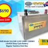 BWB Model SS12100 Stainless Box 12.8V 100AH 1280WH Lithium Iron LiFePO4 Deep Cycle Battery