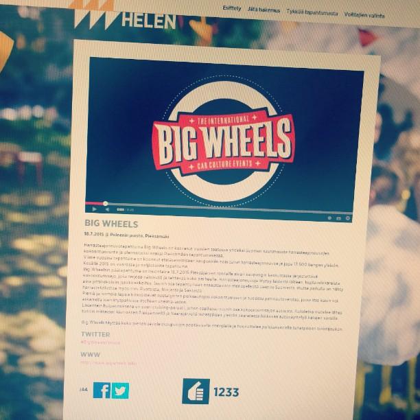 Peukuta Big Wheelsiä @energiahelen tapahtumaskabassa! www.helen.fi/kaupunkienergiaa - eiköhän stipendisummalla saataisi yhtä sun toista ekstraa tapahtumayleisön, osanottajien ja kaupunkilaisten iloksi ;)