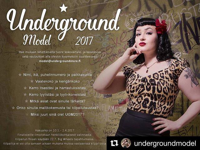 @undergroundmodel 2017 finaali jälleen Big Wheelsin yhteydessä Pieksämäellä! Lisätietoja kilpailusta ja hakuohjeet netistä http://undergroundmodel.weebly.com