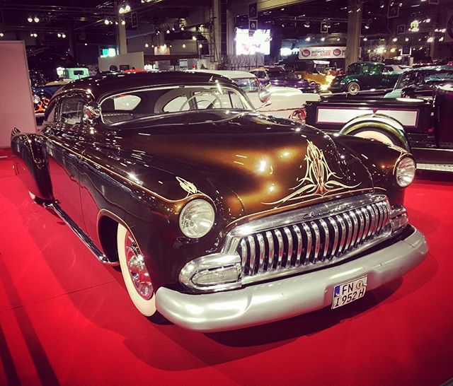 """Chevyllac"" 1952 Chevrolet Fleetline Coupe kustom by Walt Sash at American Car Show, Helsinki."