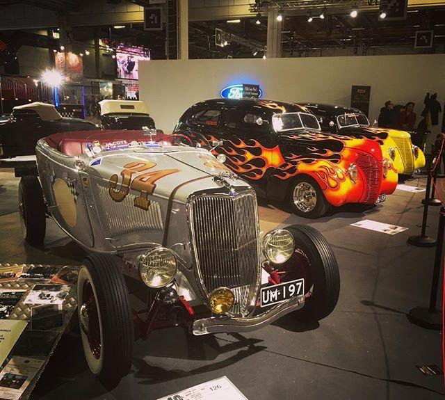 Hot rods at American Car Show, Helsinki.