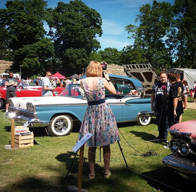 American Beauty Car Show, Haapsalu, Estonia. Interview with ETV.