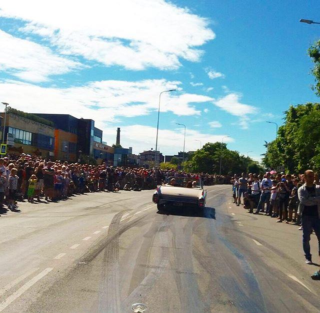 Parade at American Beauty Car Show, Haapsalu, Estonia